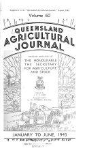 Queensland Agricultural Journal Book