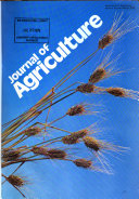 Journal of Agriculture Book