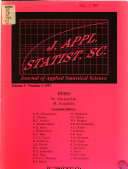 Journal of Applied Statistical Science