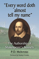 """Every word doth almost tell my name"" ebook"