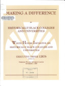 Making a Difference for Historically Black Colleges and Universities