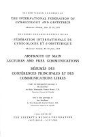 Abstracts of Main Lectures and Free Communications