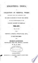 Bibliotheca Indica Book PDF
