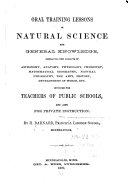 Oral Training Lessons in Natural Science and General Knowledge