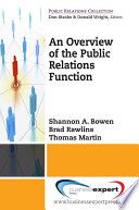 An Overview of the Public Relations Function Book