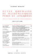 Revue roumaine de mathématiques pures et appliquées