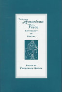 The American Voice Anthology Of Poetry