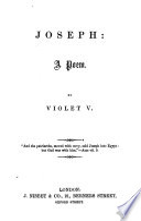 Joseph  a poem  By Violet V