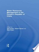 Water Resources Management In The People S Republic Of China Book PDF
