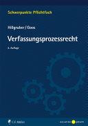 Hillgruber/Goos, Verfassungsprozessrecht