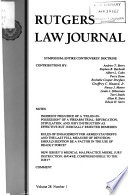 Rutgers Law Journal  , Bände 26-28