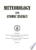 Meteorology and Atomic Energy Book