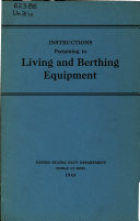 Instructions Pertaining to Living and Berthing Equipment