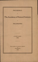 Proceedings of The Academy of Natural Sciences (Vol. LXXXIV, 1932)