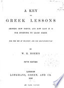A Key to Greek Lessons Book