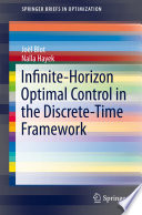 Infinite Horizon Optimal Control in the Discrete Time Framework