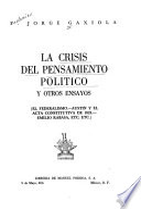 La crisis del pensamiento político, y otros ensayos