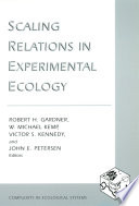 Scaling Relations In Experimental Ecology Book PDF