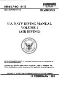 U S  Navy Diving Manual  Air diving