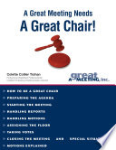 A Great Meeting Needs a Great Chair Book PDF