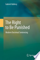 The Right to Be Punished Book