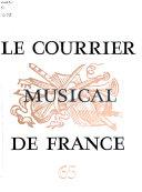 Le Courrier musical de France
