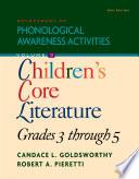 Sourcebook Of Phonological Awareness Activities Volume Iii Children S Classic Literature Grades 3 To 5