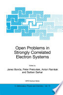 Open Problems in Strongly Correlated Electron Systems Book PDF