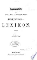 Supplementhäfte till Elias Lönnrots Finskt-svenska lexikon
