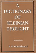 A Dictionary Of Kleinian Thought Book PDF