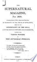 The Supernatural Magazine  for 1809 Book