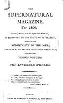 The Supernatural Magazine  for 1809
