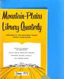 Mountain-plains Library Quarterly
