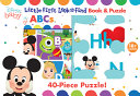 Disney Baby  ABCs  Little First Look and Find Book   Puzzle
