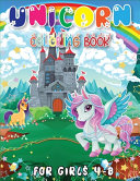 Unicorn Coloring Book for Girls 4 8