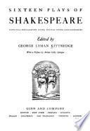 Sixteen Plays of Shakespeare
