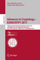 Advances in Cryptology     EUROCRYPT 2017
