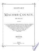 History of Macomb County  Michigan