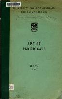 List Of Periodicals