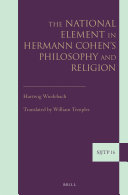 The National Element in Hermann Cohen s Philosophy and Religion
