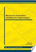 Mechanical Automation and Materials Engineering II