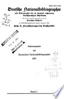 Deutsche Nationalbibliographie und Bibliographie der im Ausland erschienenen deutschsprachigen Schrifttums