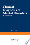 Clinical Diagnosis of Mental Disorders Book