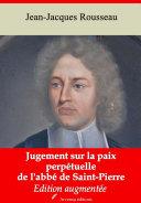 Pdf Jugement sur la paix perpétuelle de l'abbé de Saint-Pierre Telecharger