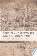 Deleuze and Guattari's What is Philosophy?