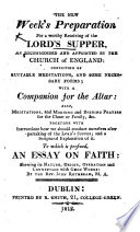 With a Companion for the Altar     To which is prefixed an Essay on Faith     by J  Rotheram