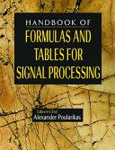 Handbook of Formulas and Tables for Signal Processing Pdf/ePub eBook