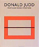 Donald Judd, prints and works in editions