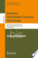 Business Information Systems Workshops Book PDF