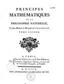 Principes mathématiques de la philosophie naturelle ebook